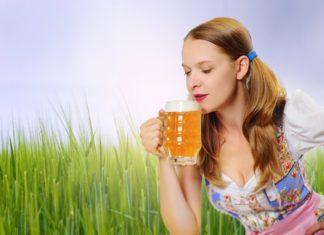 žena pivo